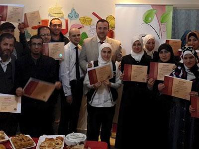 رابطة المرأة السورية في الأردن تمنح درع الشكر للمدرب أول عبد الفتاح السمان والمدرب يوسف دوارة