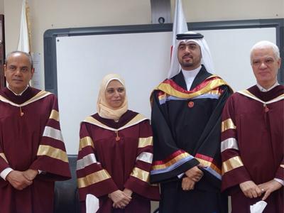 درجة الماجستير بتقدير إمتياز للمدرب عمار محمد مبارك هذا التفوق
