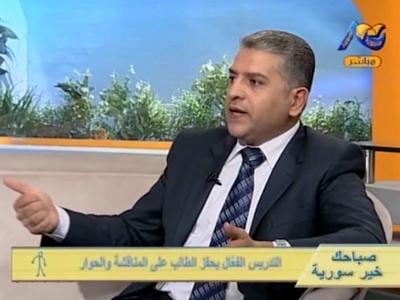 لقاء تلفزيوني مع المدرب د.محمد راتب الشعار