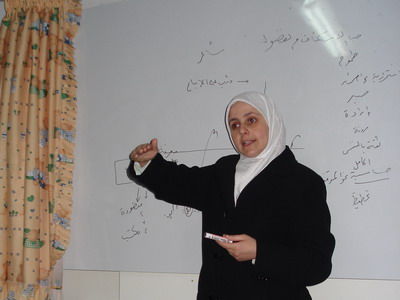 "Lattakia, Syria: for the first time, ""the making of the creative child"" course is presented by the trainer Duha Fattahi"