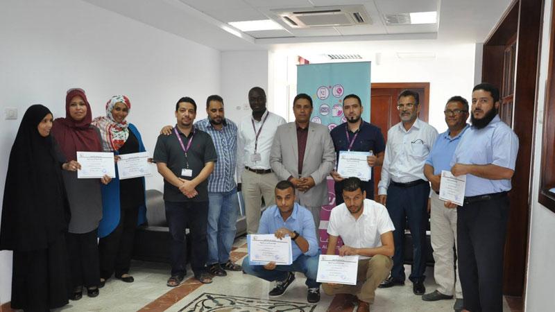 تميز وتألق للمدرب المعتمد جمعة سلامة  في دورة الإسعافات الأولية لموظفي شركة  Libyana للهاتف المحمول