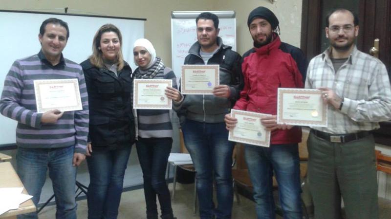 سوريا - دمشق: إنتهاء دورة إدارة المشروعات الصغيرة للمدرب أول لينا ديب