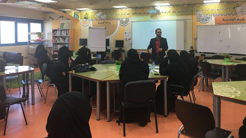 استمرار سلسلة الورشات التدريبية (التنوع والاختلاف) للمدرب أول آري ازباني في مدارس ومؤسسات الدوحة التعليمية