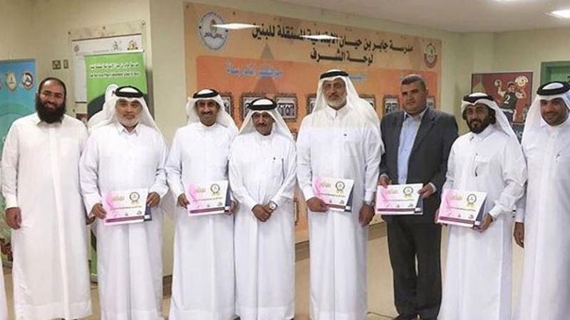 المدرب أول عمر الجابر وإنجاز جديد وتكريمه من قبل إدارة مدرسة جابر بن حيان
