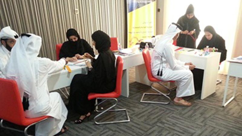 مهارات العمل الجماعي، لموظفي الديوان الأميري القطري بإشراف المدرب هشام زكى
