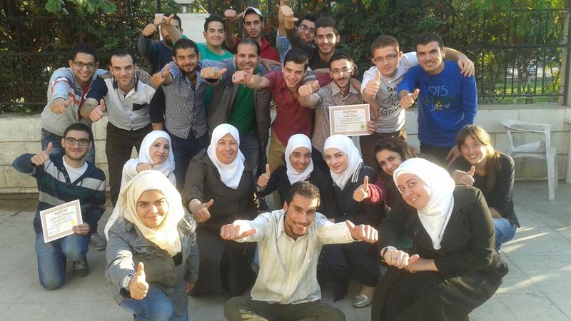 سوريا - دمشق: إنتهاء دورة التعامل مع الأشخاص صعبي المراس للمدربة هدى زكريا