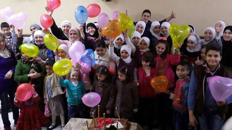 سوريا - دمشق: حفل ختام دورات التنمية البشرية مع المدربة دعاء محمد علي يونس