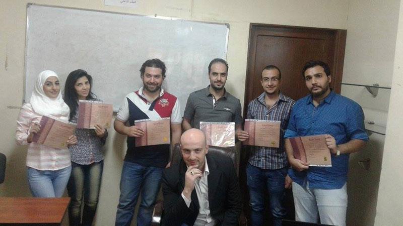 ختام دورة المكونات الاساسية في خدمة الزبائن للمدرب همام هندي في دمشق