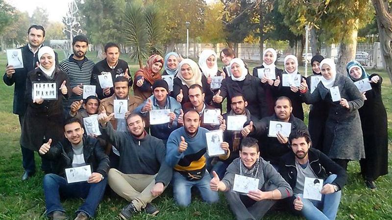 سوريا - دمشق: لغة الجسد، تفاعل وحب التعلّم مع المدربة بروج عمر