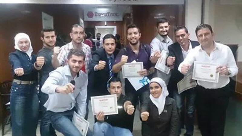 سوريا – دمشق: إنتهاء دورة دبلوم البرمجة اللغوية العصبية بقيادة المدرب طارق السعدي