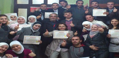 سوريا – دمشق: ولادة طبيعية جديدة من تحت الركام مدربوا دمشق مستمرون في التحدي وفي العطاء