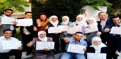 """سوريا - دمشق: اختتام دروة مميزة  في """"إدارة المشاريع""""  للمدربة لينا ديب"""