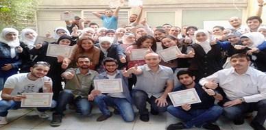 """سوريا - دمشق: تحت عنوان """"السينما الصامتة"""" تم اختتام دورة مميزة حول """"لغة الجسد"""" للمدرب همام هندي"""