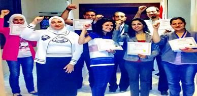 سوريا - دمشق: ستة نجوم من قطاع التأمين امتلكت مهارات دراسات الجدوى الاقتصادية مع المدرب الأول محمد بدر كوجان