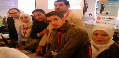 سوريا - دمشق : حضور المدرب طارق السعدي فعاليات معرض شباب لينك