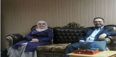 العراق - كركوك: لقاء للمدرب آريان كريم مع مديرة أكاديمية الشرق العالمية