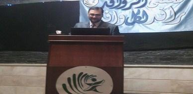 تكريم المدرب د.محمد إياد الزعيم لمشاركته في ملتقى الروافد