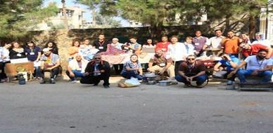 قطار التدريب ينطلق ليقل المتدربين، بقيادة الاستشاري د.محمد عزام القاسم