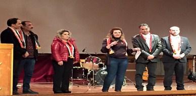 شهادة شكر للمدربة أول لينا ديب ضمن حفل تكريم المبادارات التطوعية لعام 2015.