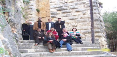 Syria - Slunfeh: the tourist program within ICT course; A trip to Salah Aldin citadel