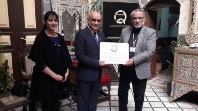 الهيئة العامة لمشفى دمشق تكرّم المدرب الاستشاري عزام القاسم