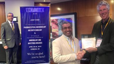 المدرب أول حمد الشمري مشاركاُ في مؤتمر البيوتكنولوجي والذي انعقد في لندن