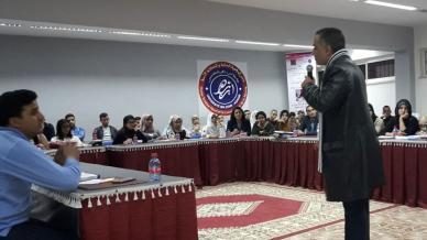 جامعة ابن زهر - كلية العلوم القانونية تستضيف المدرب عبد الله ادالكاهية في أمسية تدريبية مميزة