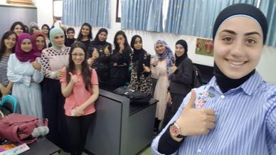 المدربة سهى أبو رومي في دورة مميزة لفائدة طلبة السنة الأولى الجامعية لتعزيز الثقة وتطوير الذات