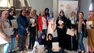 مشاركة مميزة  للمدربة خديجة بلباركة في مدينة العيون المغربية