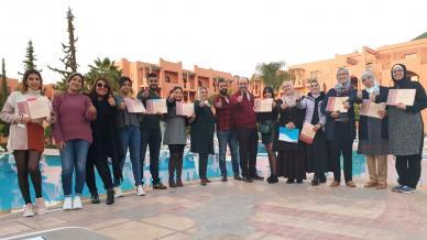 المدرب أول عادل عبادي يختتم دورة دبلوم البرمجة اللغوية العصبية في مدينة مراكش