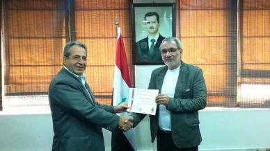 المدرب الاستشاري الدكتور عزام القاسم مُكرماً من قبل مؤسسة الفرات للنفط