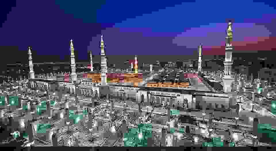 المسجد النبوي الشريف في المدينة المنورة في المملكة العربية السعودية