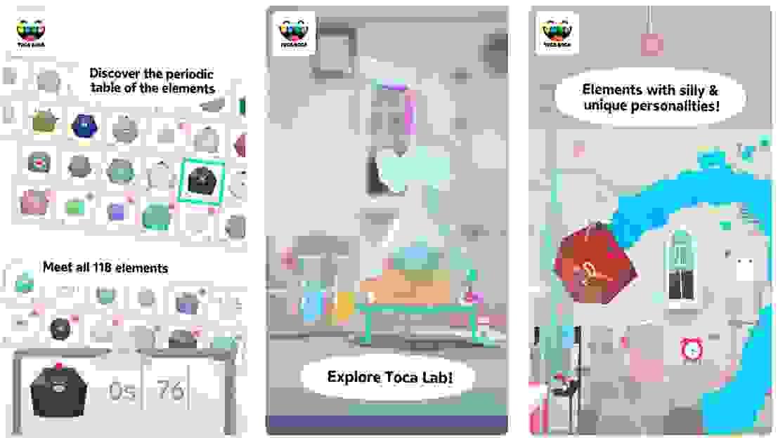 تطبيق Toca Lab: Elements