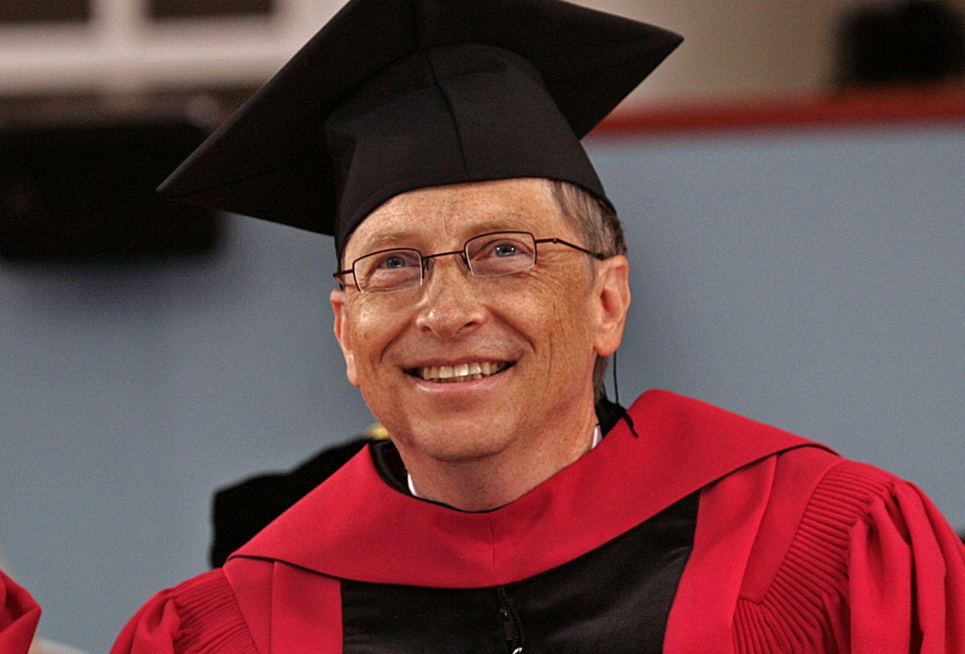 Bill gates Doctorate degree at Harvard University