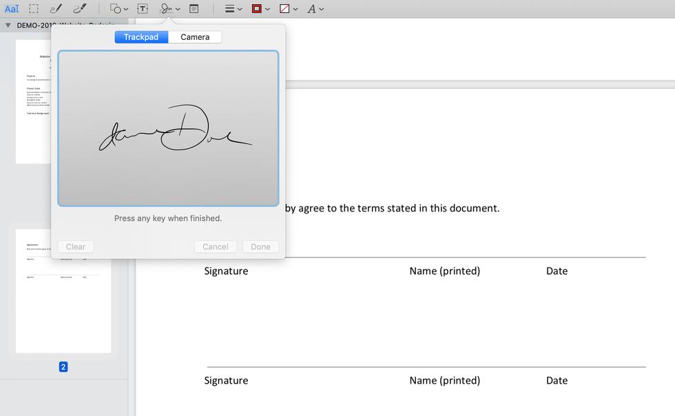 أداة التوقيع الإلكتروني