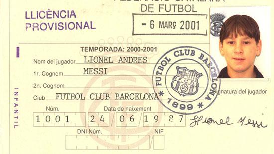 انتقال ميسي لبرشلونة