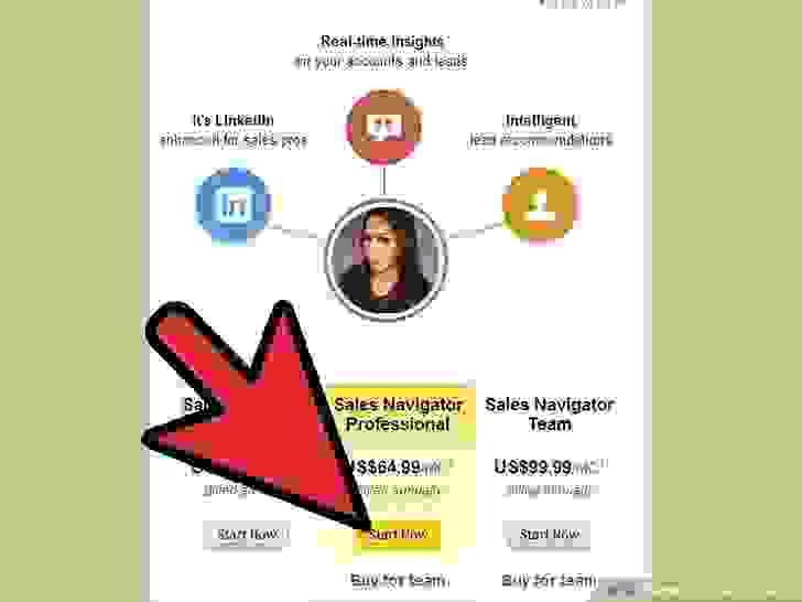 ضع في اعتبارك الاشتراك المدفوع للحصول على حساب محترف المبيعات (Sales Navigator Professional)