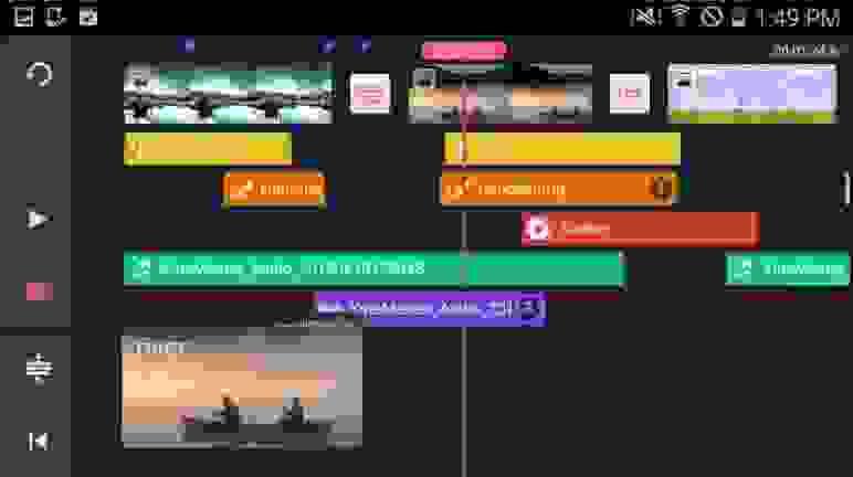 تطبيق محرر الفيديو (KineMaster)