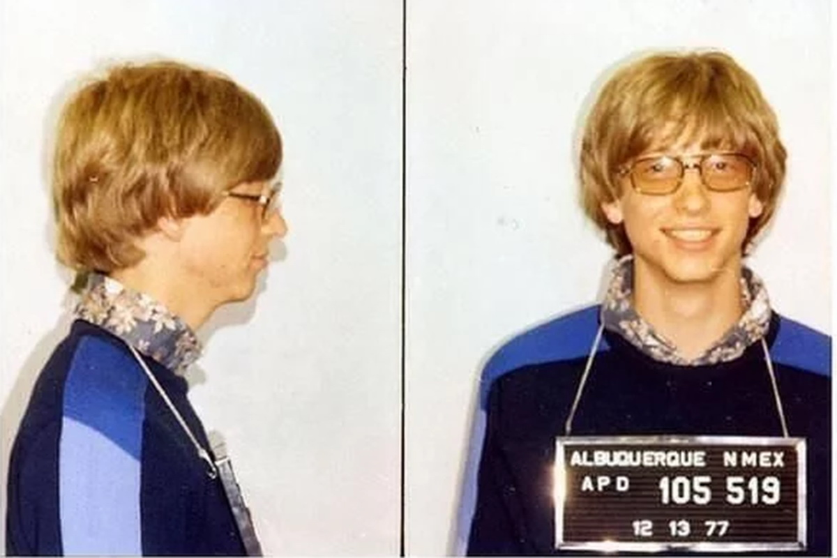 Bill Gates 1977 Driving without a license