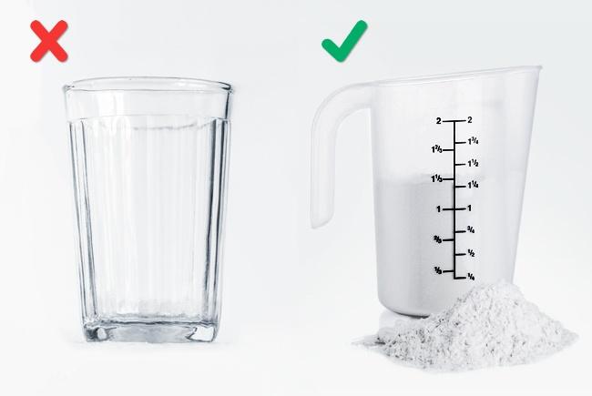 قياس كمية المكونات الجافة