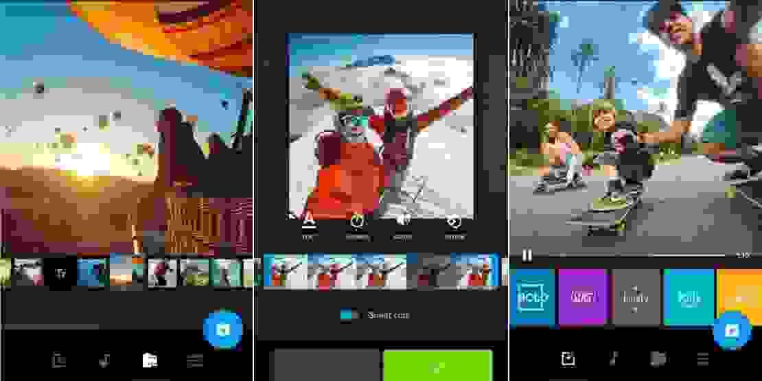 تطبيق محرر الفيديو (Quik)