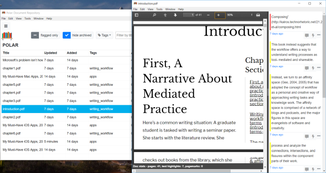 Polar Bookshelf (مدير لملفات الويب وملفات PDF)