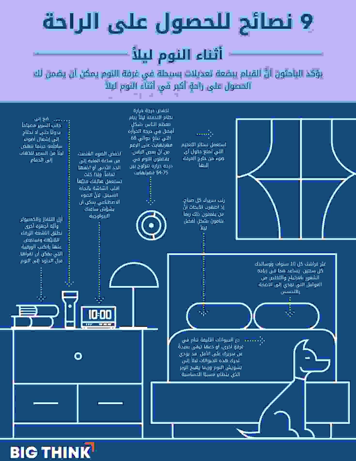 9 نصائح للحصول على الراحة أثناء النوم ليلاً