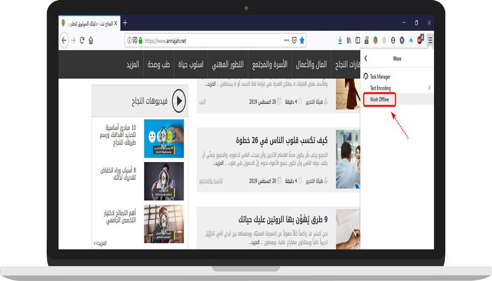Firefox - Work Offline