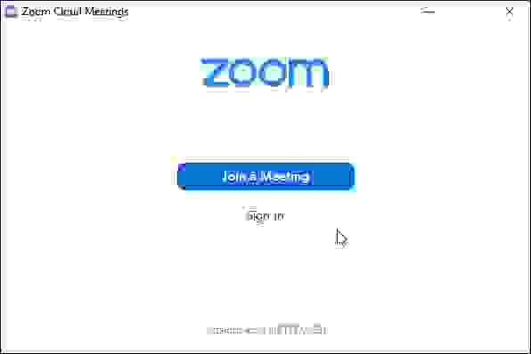 فتح برنامج زوم من اجل الانضمام لاجتماع فيديو