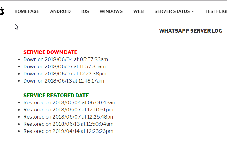 WA Server Logs