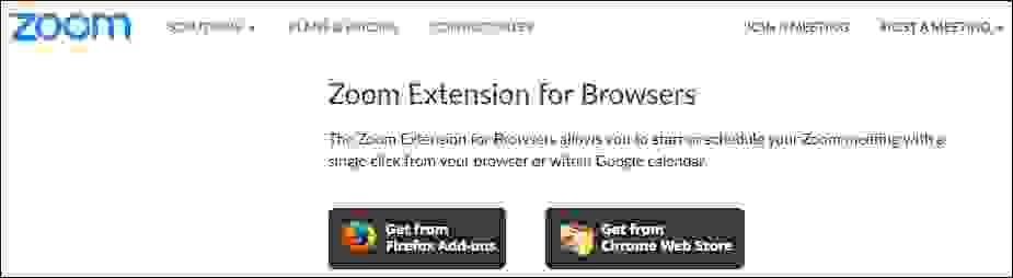 تحميل برنامج زوم على شكل إضافات لمتصفح الإنترنت
